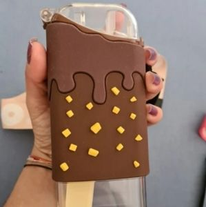 Super Cute Ice Cream Water Bottle With Straw  Cup